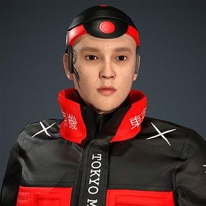 3D tokyo machine man character
