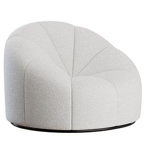 3D Alpha Club Chair by Pierre Paulin model