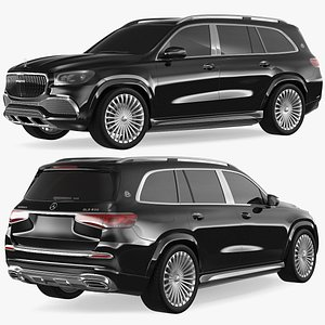 3D model Maybach GLS SUV Simple Interior