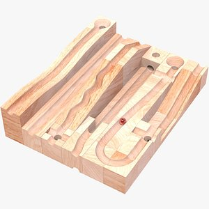 Wooden Construction Toy model