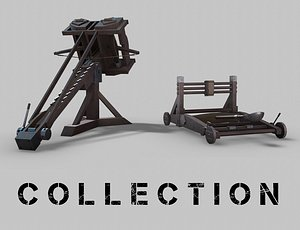 3D MEDIEVAL Ballista and Catapult
