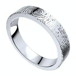 3D set rings finger print model