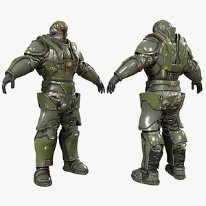 heavy soldier character zbrush 3D model