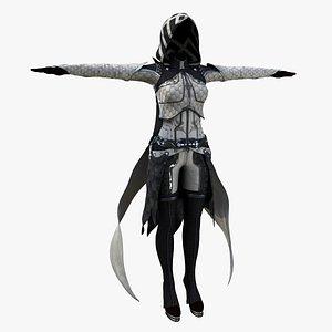 Sci-fi Priestess Cloth 3D