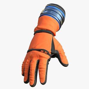 3D model Artemis Orion Crew Survival System OCSS Gloves 3D model
