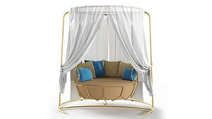 Roberti Rattan Gravity swing sofa 22014 3D model