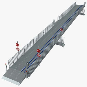 3D model Drive Through Car Checkpoint