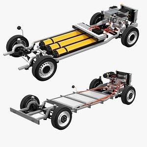 3D Elternative Fule Van Chassis Collection model