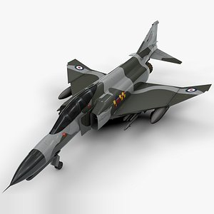 3D mcdonnell douglas f-4 model