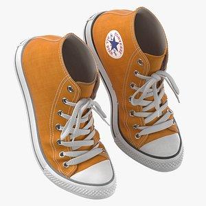 Basketball Shoes Bent Orange 3D model