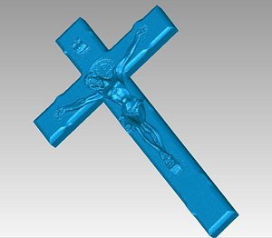 crucifix jesus cross 3D model