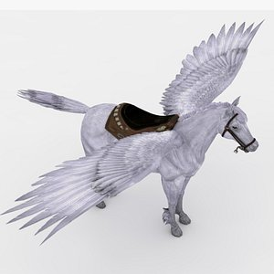 3D Pegasus Rigged and Animated model
