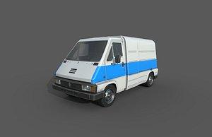 Low Poly Car - Renault Master Van 1980 3D
