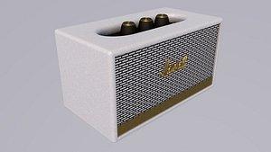 3D Marshall Acton II Wireless Wi-Fi Smart Speaker White model