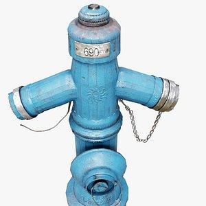 Croatian Fire Hydrant 3D model