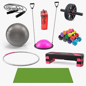 3D Fitness Equipment Collection 5 model