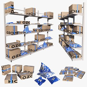 Shelving with boxes Ozon model