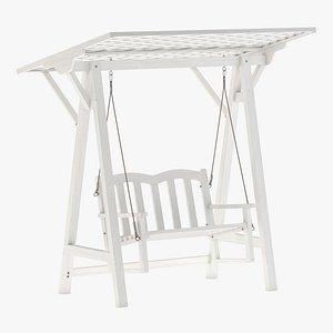 Wooden Swing Chair 05 3D model