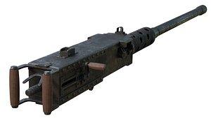 gun m2 browning 3D
