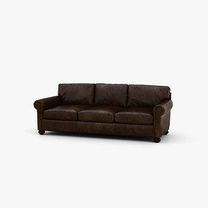 Restoration Hardware Lancaster leather sofa 3D model