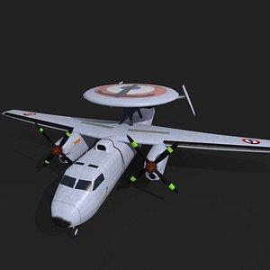 e2c hawkeye French navy 3D model