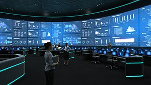 3D Control Room, Monitoring room, command center