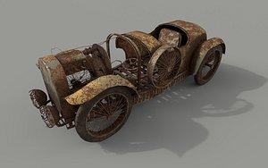 Rust abandoned car 3D