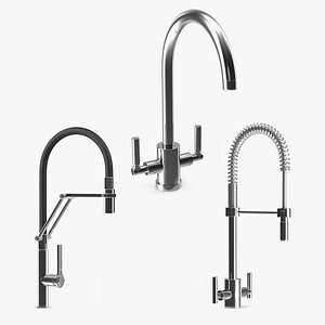 3D Kitchen Taps Collection