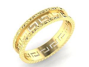 3D greek wedding rings