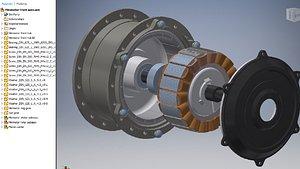 geared-hub-motor-for-bicyclewheel 3D model