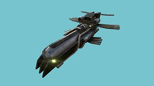sci-fi aircraft - airship 3D