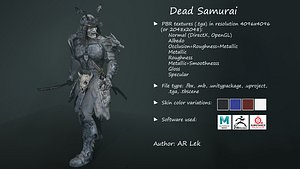 3D Dead Samurai
