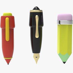 cartoon pencils tool 3D