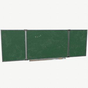 3D Chalkboard model