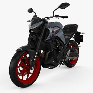 3D model Yamaha MT-03 2021