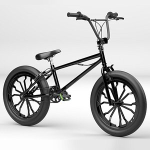Black BMX Bike 3D model