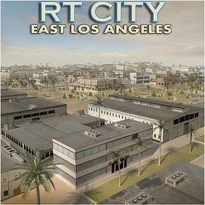 East Los Angeles Stylised Skyline 2021 3D model