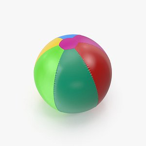 Colorfull Inflatable Beach Ball 3D model