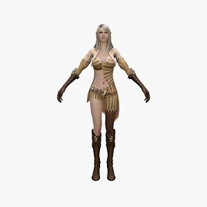 3D elf princess
