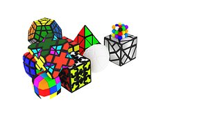 3D different type rubik set model