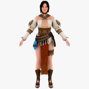 Freya Old Norse Freyja Lady Warrior 3D 3D model