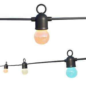 3D String Lights Variable Color Lamps model