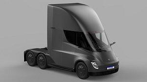 Tesla Semi Tall Cabin 2020 3D model