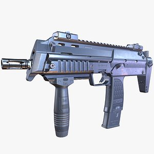 3D heckler koch submachine gun