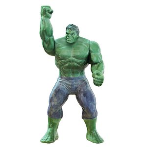3D 2 character hulk toy model