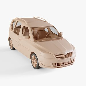 2011 Skoda Roomster 3D model