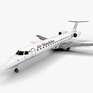 AIR MANDALAY EMBRAER ERJ 145 L1366 3D model