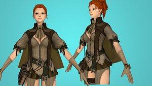 milia cartoon knight 3D model