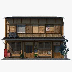 old japanese building house 3D model