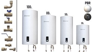 Set Water heater THERMEX Solo V 3D